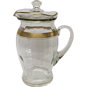 Tiffin Crystal Minton Tall Pitcher & Lid