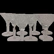 Set (9) Stunning Seneca Crystal Elegance Pattern #967 Tall Sherbets