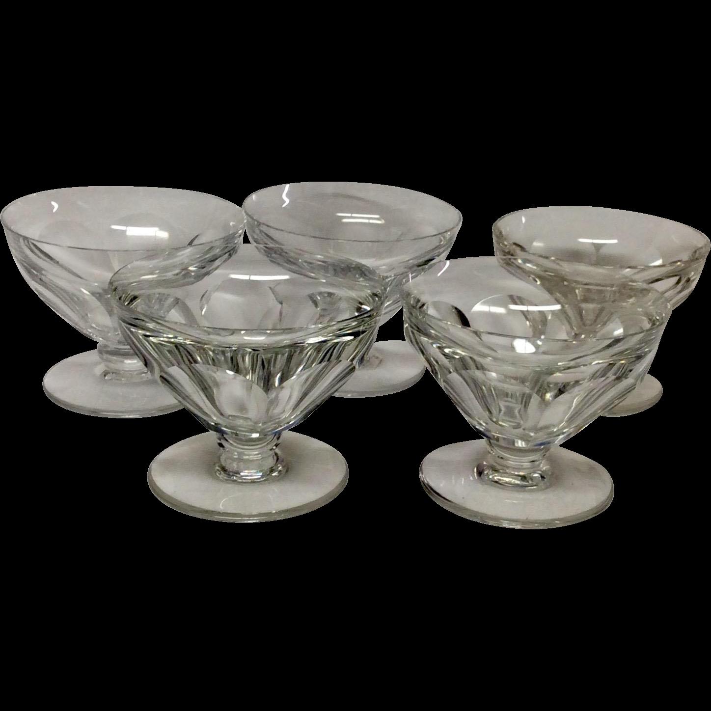 Set (5) Baccarat Tallyrand Footed Desset Bowls