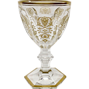 Stunning Baccarat Empire Crystal Large Water Goblet