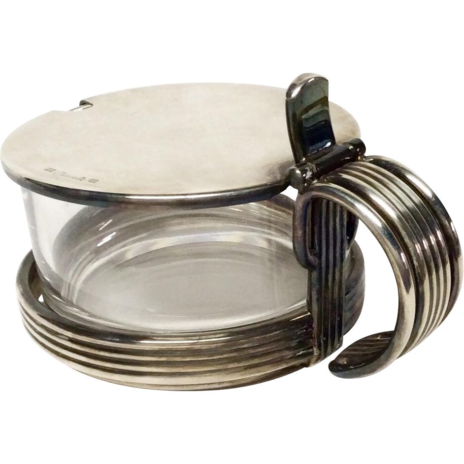 lidded christofle silver plated and glass jam server from grandviewfinetableware on ruby lane. Black Bedroom Furniture Sets. Home Design Ideas