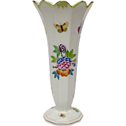 Herend Queen Victoria Tall Trumpet Vase