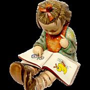 """Oversized Goebel Hummel """"Bookworm"""" 3/III Figurine TMK 5"""