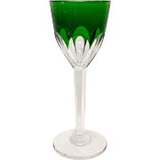 Stunning Baccarat Genova Emerald Rhine Wine Hock