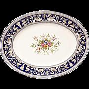 Very Large Wedgwood Florentine Cobalt W1079 Oval Platter