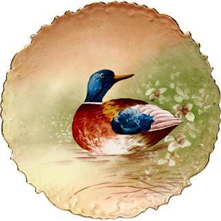 B & H Limoges Duck Game Plate