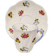 Lovely Shelley Rose, Pansy, Forget Me Not (13424)  Demitasse Set