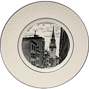 Spode Commemorative Boston Old North Church Plate, Mansard Shape
