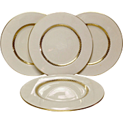 "Set (4) Lovely Lenox Imperial P338 9 1/4"" Luncheon Plates"