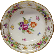 Schumann Empress Dresden Flowers Coupe Soup or Cereal Bowl