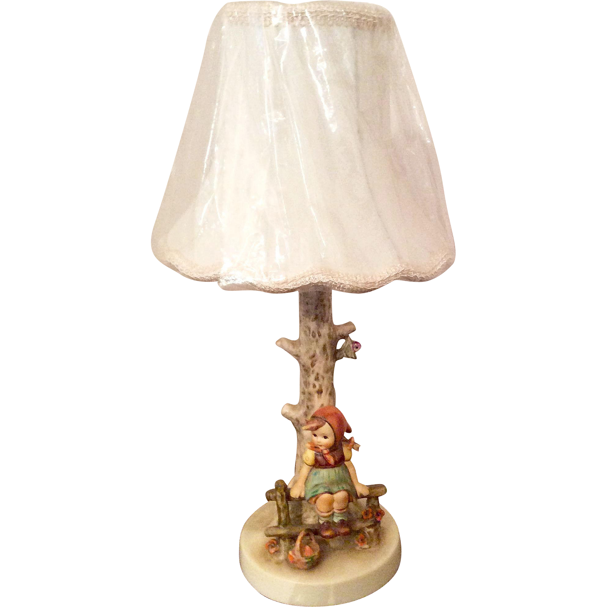 "Adorable Hummel ""Just Resting"" Lamp TMK 6"