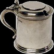 Charming Wiiliam Adams Sheffield Sterling Miniature Tankard Mustard Pot