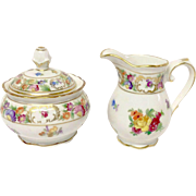 Miniature Schumann Empress Sugar & Creamer Set, U.S. Zone