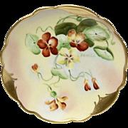 Lovely Pickard Nasturtiums Dish Signed Beutlich