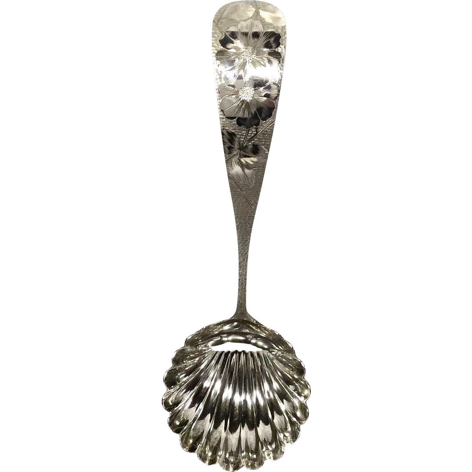 J.E. Caldwell Sterling Hammered & Bright-Cut Soup Ladle