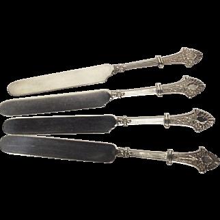 Rare Set (4) Gorham Louis XIV All Sterling Tea Knives
