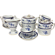 Spode Gloucester Blue Y2649 Made For Tiffany Tea Set