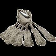 Set(6) Duhme Cincinnati Coin Silver Teaspoons