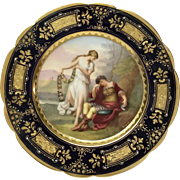 "Royal Vienna ""Rinaldo"" Portrait Plate Signed Wagner"
