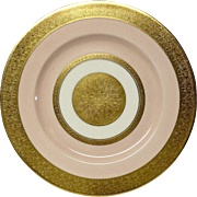 Stunning Theodore Haviland 711S Pink & Gold Encrusted Service Plate