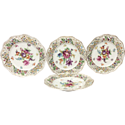 Set(4) Early Schumann Chateua Dresden Salad Plates