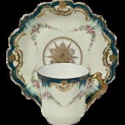 Stunning Antique Klingenberg and Dwenger Limoges Hand Painted Demitasse