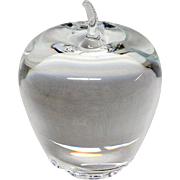 Stunning Steuben Crystal Apple Paper Weight #7874