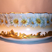 T&V Limoges Daisy Chain Large Round Vegetable Bowl