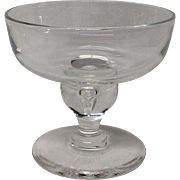 Fine Steuben Crystal Champagne Sherbet Baluster Stem #7877
