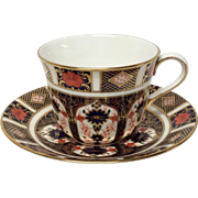 Royal Crown Derby 1128 Flat Cup & Saucer