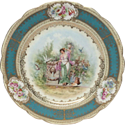Austrian Imperial Crown China Portrait Plate