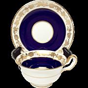 Wedgwood Whitehall Mazarine Blue W4200 Cup & Saucer Set