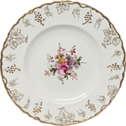 R. Crown Derby Vine Posie Center A929 Dinner Plate