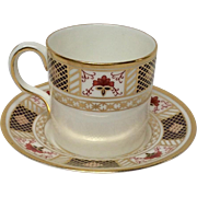 "Royal Crown Derby ""Derby Border"" A1273 Demitasse Cup & Saucer Set"