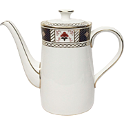 "Royal Crown Derby ""Derby Border"" A1273 Coffee Pot"