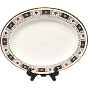 "Royal Crown Derby ""Derby Border"" A1273 16"" Platter"