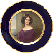 Stunning  Thallmaier A. Kaula Hand Painted Portrait Plate