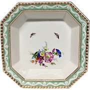 KPM Berlin Kurland Serving Bowl, Hand Painted Flowers, Butterflies, Gilding