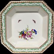 KPM Berlin Kurland Serving Bowl, Hand Painted Flowers, Butterflies, Gilding