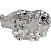 Adorable Signed Steuben  Rhinoceros Hand Cooler