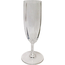 Baccarat Montaigne Optic Crystal Champagne Flute