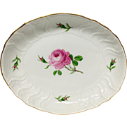 Lovely Meissen Rose Porcelain  Oval Serving Dish