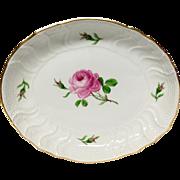 Lovely Meissen Rose Porcelain  Oval Serving Dish