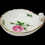 Lovely Meissen Rose Porcelain  Handled Nappy