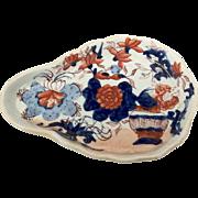 Antique Mason's Patn'd Ironstone Japan Basket Spoon Rest