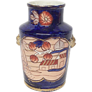 Antique Mason's Patn'd Ironstone Schoolhouse Pattern Vase