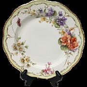 Stunning KPM Flowers & Butterfly Dinner Plate Neuosier Blank