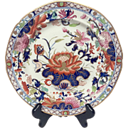 Stunning Antique Mason's Patn'd Ironstone Water Lily Luncheon  Plate