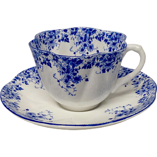 Delightful Shelley Dainty Blue 051/28 Cup and Saucer