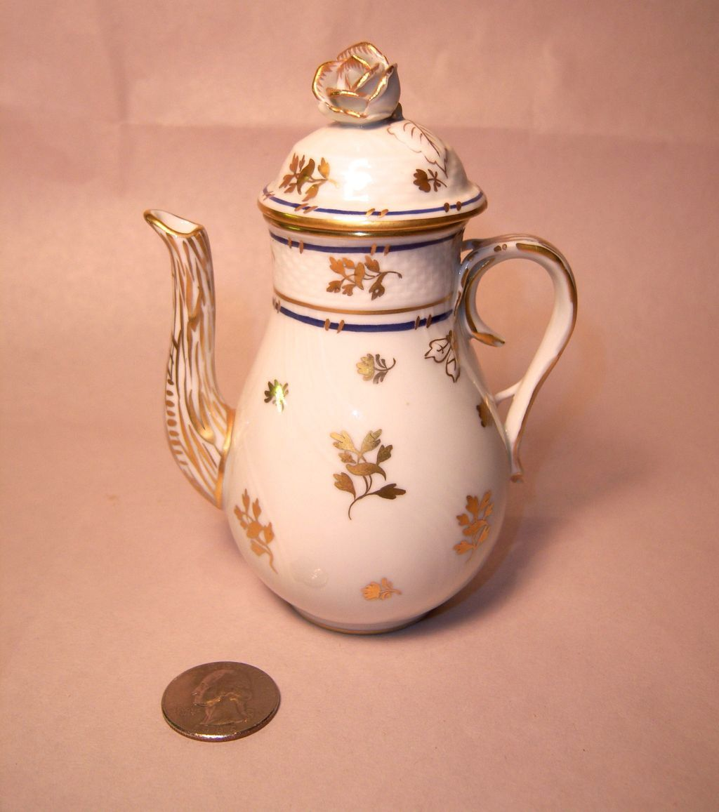 Herend CORONATION Tiny Individual Coffee Pot
